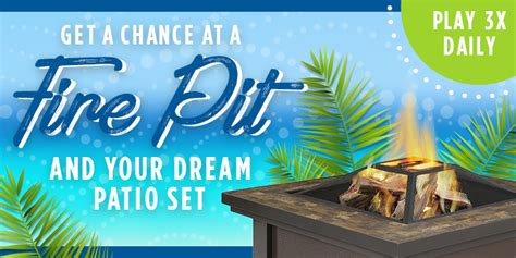 Shop Your Way Instant Win Codes - shop your way fancy fire pit instant win game