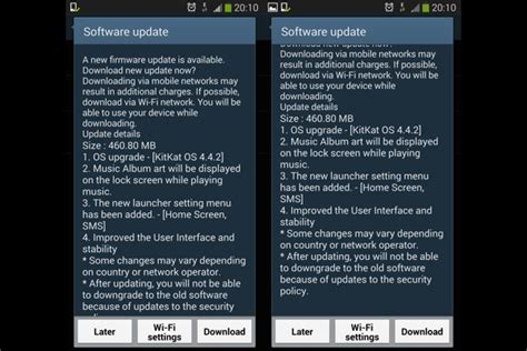 reset android notifications samsung galaxy s4 android kitkat update in sa