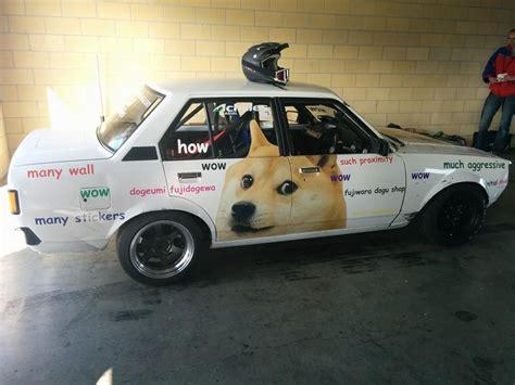 Doge Car Meme - o dono deste skyline gt r r33 deixou sua mulher pintar o