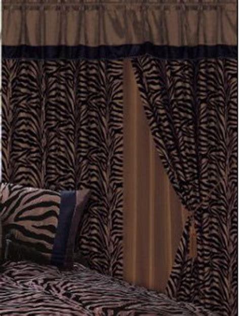 Black And Brown Window Valance Discount 3 Layer Modern Chocolate Brown Black Zebra Print