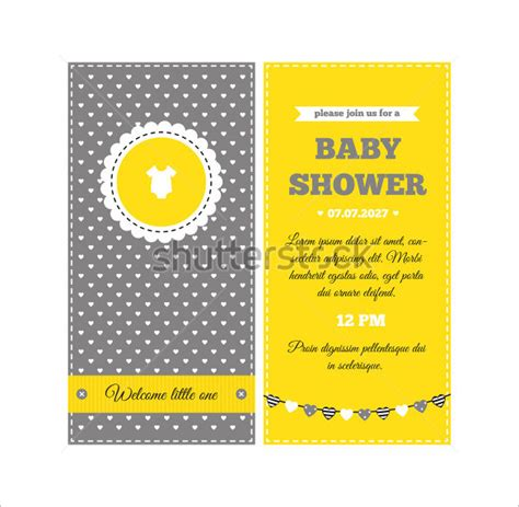 show card templates baby shower card template 21 free printable sle