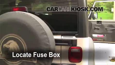 interior fuse box location   jeep wrangler  jeep wrangler unlimited rubicon