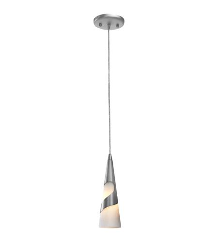 Access Lighting Onyx 1 Light Pendant In Brushed Steel Onyx Pendant Light