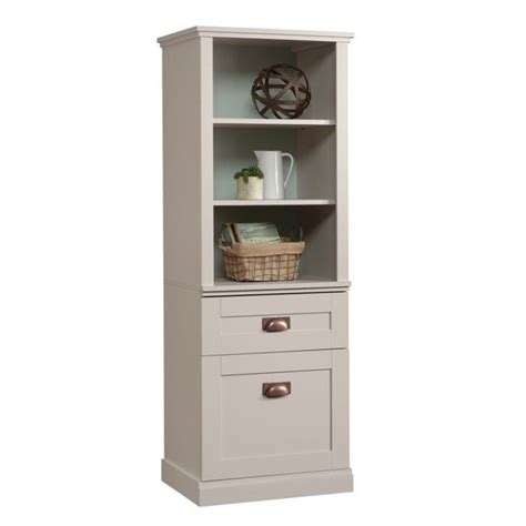 Sauder New Grange Tall 3 Shelf Bookcase In Cobblestone Sauder Bookcase