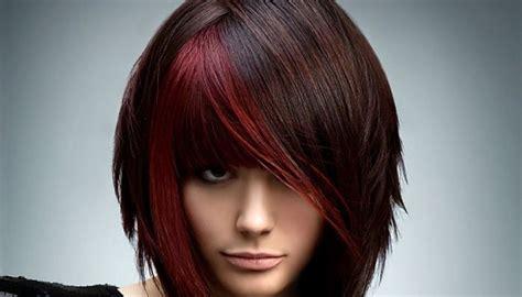 cortes de cabello 2016 en rojo y negro 20 ideas vanguardistas para pelo corto con mechas