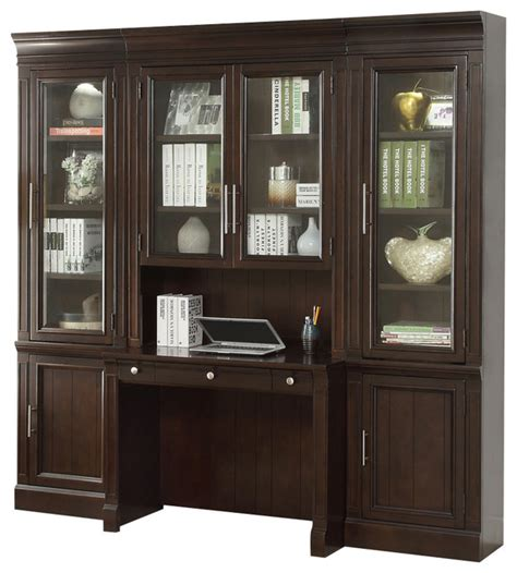 stanford library desk wall unit vintage sherry finish