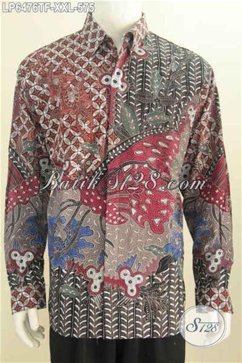 Hem Batik Katun Furing Pj Kemeja Batik Terbaru Batik Kantor M 2 baju kemeja batik mewah lengan panjang furing