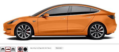 Orange Tesla Tesla Model 3 In Any Color You Want Interactive Website