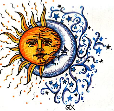 sun moon yin yang tattoo designs cool sun moon drawings clipart best