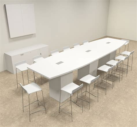 Bar Height Conference Table Boat Shape Counter Height 14 Conference Table Of Con Ct13 Ebay
