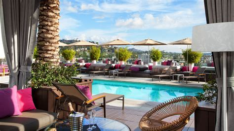 top bars in hollywood west hollywood pool rooftop bar in los angeles w hollywood hotel