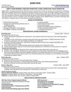 click here to download this process field operator resume sle expert oil gas resume professional chemical plant operator templates to showcase your talent myperfectresume