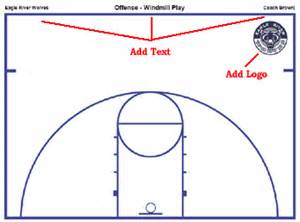 Outdoor Basketball Court Template by Basketball Court Diagrams And Templates Free Printable