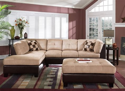 brown suede sectional couch cream suede two tone modern sectional sofa wbycast base