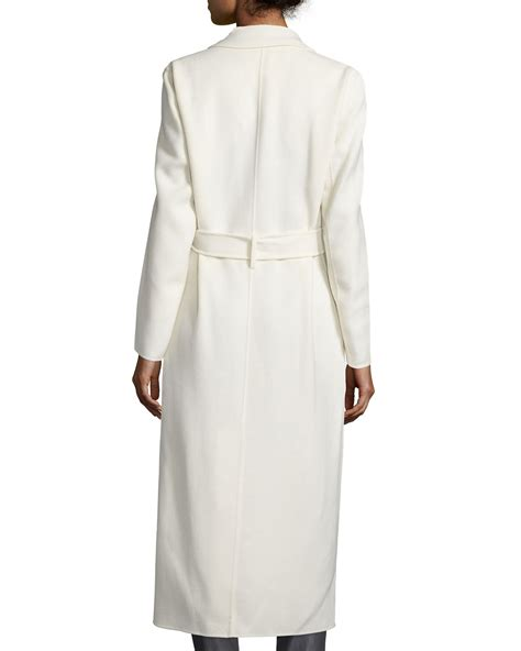 Wool Blend Wrap Coat joseph wool blend wrap coat in white lyst