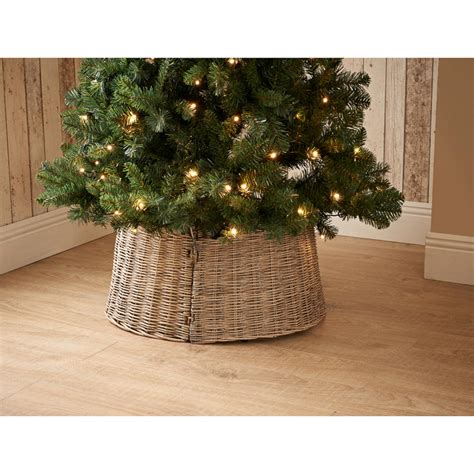 wicker christmas tree skirt natural decorations b m