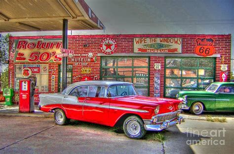Automotive Wall Murals vintage 50 s route 66 by tommy anderson vintage 50 s