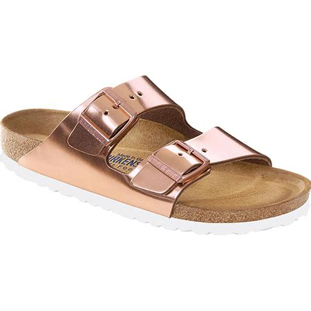 birkenstock arizona soft footbed metallic copper birkenstock arizona soft footbed metallic copper leather
