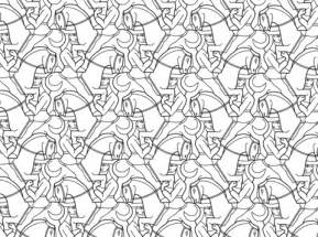 horseman tessellation by m c escher coloring page free