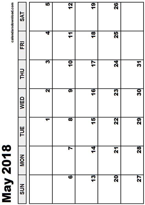 May 2018 Calendar May 2018 Calendar