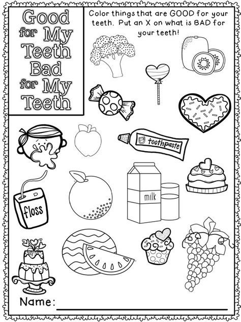1000 Images About Dental Health Activities On Pinterest Dental Health Month Coloring Pages