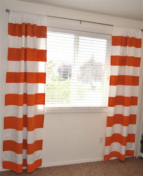 painted curtains suburbs mama painted orange curtains