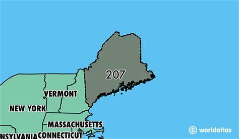 area code 207 where is area code 207 map of area code 207 portland