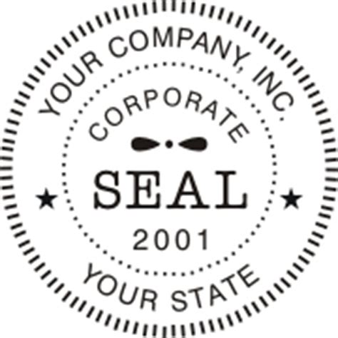 company seal template corporate digital seals