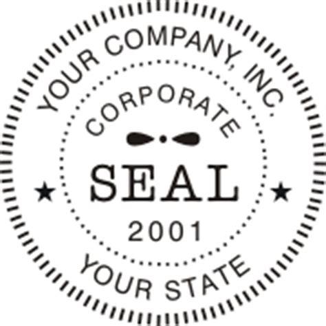 company seal st template corporate digital seals