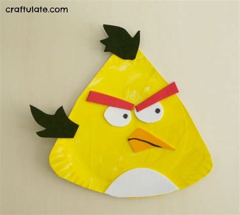 Angry Bird Paper Plate Craft - king parrot yellow feathers crafts