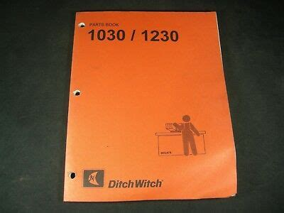 Ditch Witch 1030 1230 Trencher Parts Manual Book Catalog