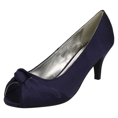 Peep Toe Shoes By Monsoon by Knot Detail Peep Toe Court Shoe Ebay