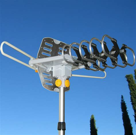 miles outdoor tv antenna motorized amplified hdtv high