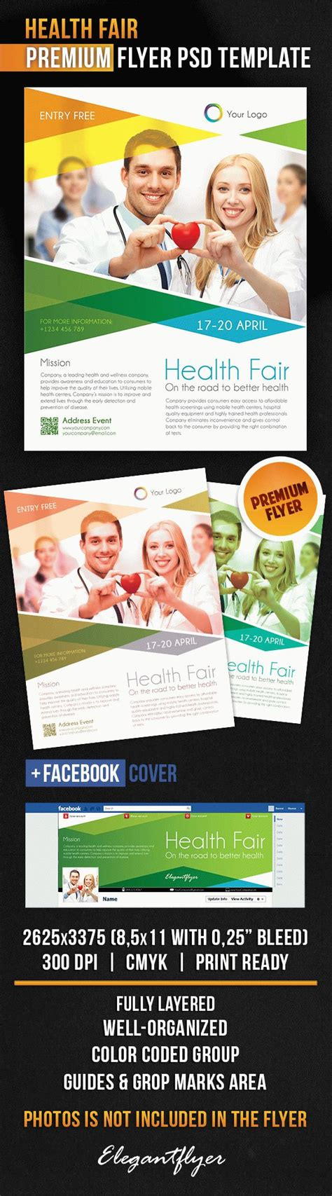 Health Fair Flyer Psd Template By Elegantflyer Wellness Flyer Templates Free