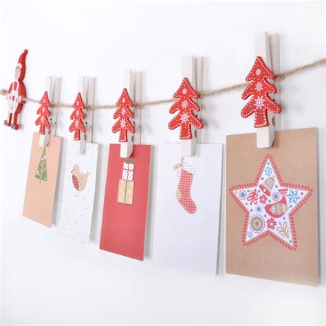 novelty christmas card holder garland with christmas tree