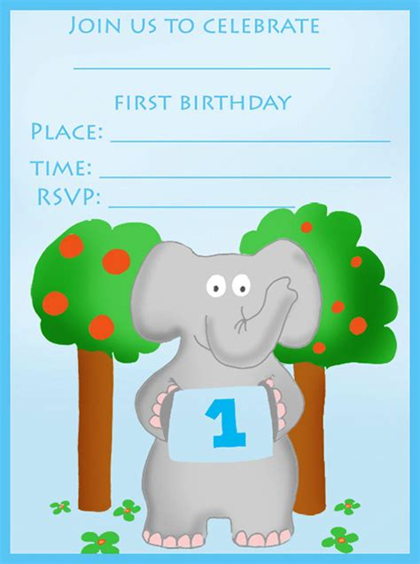 boy birthday card template free 16 best birthday invites printable sle