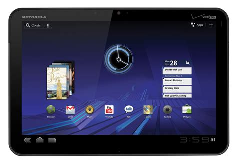 android tab motorola xoom android tablet technical specs
