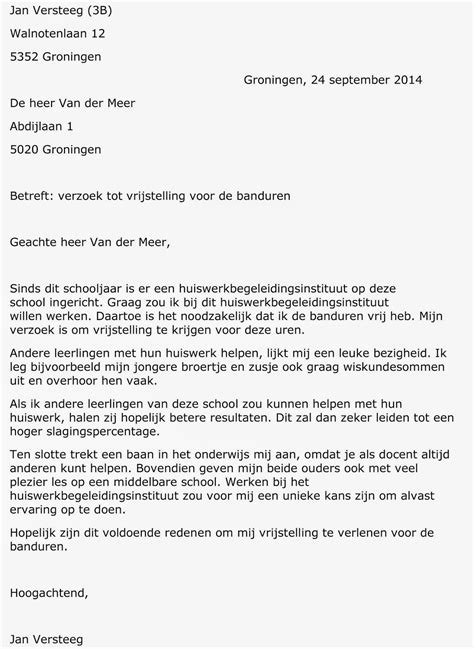 Zakelijke Briefformat Schrijfdossier Sietze Sjollema Zakelijke Brief