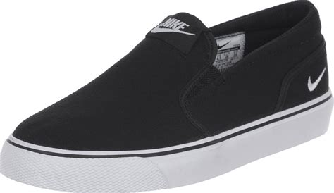 Nike Slip On nike toki slip canvas w chaussures noir blanc