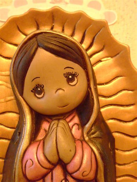 imagenes virgen de guadalupe ceramica arte y decoraciones con angel virgenes