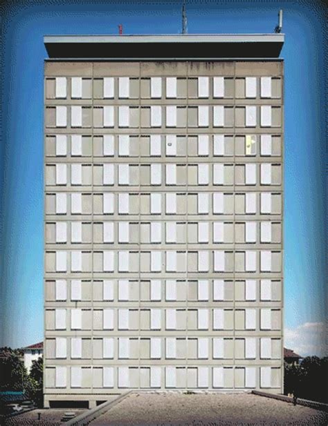 animated tower a building s windows form pixels in a