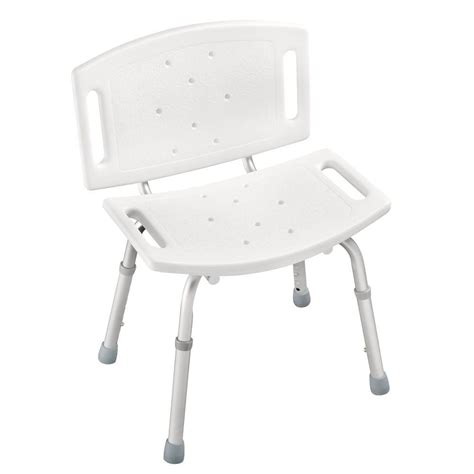 Delta Adjustable Tub and Shower Chair in White DF599   The Home Depot