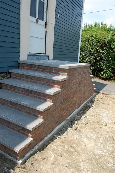 Brick Stairs Design Stair Mesmerizing Home Exterior Design Ideas Using Brick Front Porch Precast Staircase Along