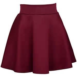 Solid Color Duvet Covers Womens Basic Solid Color Flared Skater Skirt Burgundy