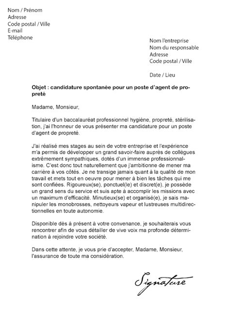 Lettre De Motivation Entreprise Ou On A Deja Travaillé Exemple Lettre De Motivation Stage Nettoyage Document