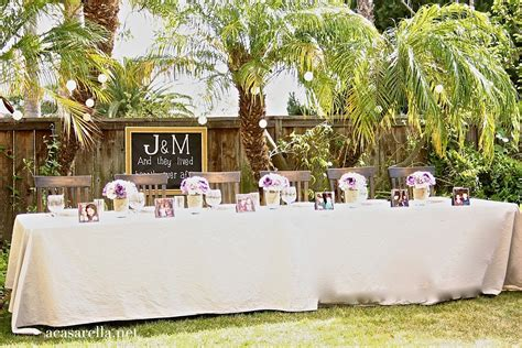 how to have a backyard wedding reception caption this quot a rustic backyard wedding reception quot a casarella