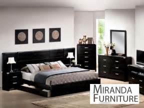 Black King Bedroom Sets Black Finish Eastern King Bedroom Set Mirandafurniture
