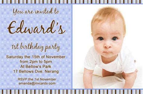 baby boy birthday invitation cards templates boys birthday invitation card templates