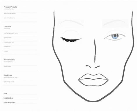 blank makeup template free coloring pages of blank faces for make up