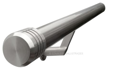 banister ends brushed stainless steel contemporary stair handrail